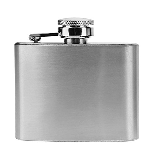 Whitelotous Stainless Steel Hip Flask Drink Liquor Whisky Alcohol Flask Fishing Picnic Wine Bottle Water Pot (2 oz)