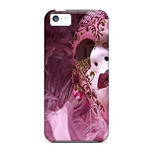 For Iphone 5c Tpu Phone Case Cover(pink Mask)