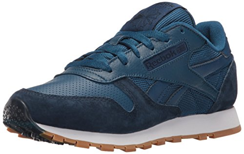 Reebok Women's CL Leather Spp Fashion Sneaker, Noble Blue/Collegiate Navy, 8 M US
