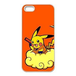 Pikachu Pokemon Pocket Monster White iPhone 5S case