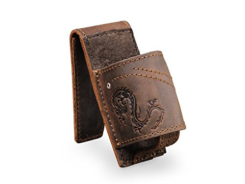 Anthology Gear Full Grain Leather Guitar Slide Holder - Whiskey by Anthology Gear Wear (Image #1)