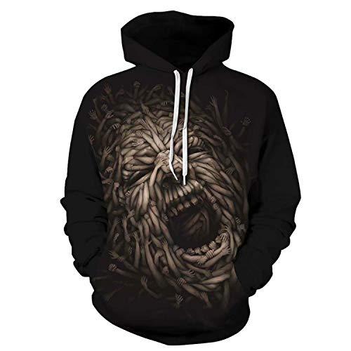 U LOOK UGLY TODAY Pullover Sweatshirt Black-Monster]()