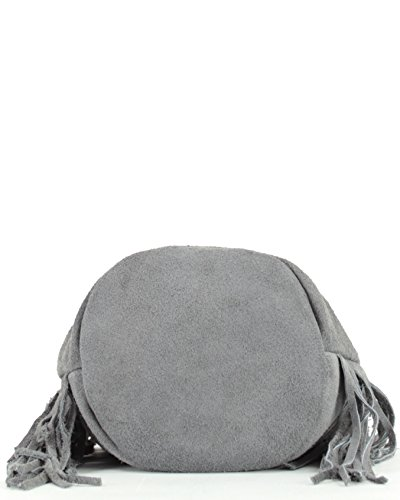 histoireDaccessoires - Bolso con Bandolera de Cuero de Mujer - SA155321L-OE-Urso Gris