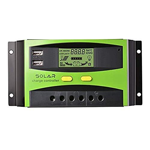 Regulador de Carga solar Autoswitch Cargador PWM Panel Solar Charge Controller 40A 12/24V