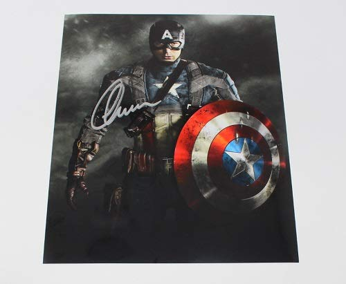 Soldier Signed - Captain America The Winter Soldier Chris Evans Signed Autographed 8x10 Glossy Photo Loa