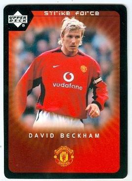 David Beckham trading card (Manchester United FC England Soccer) 2003 Upper Deck Strike Force #3