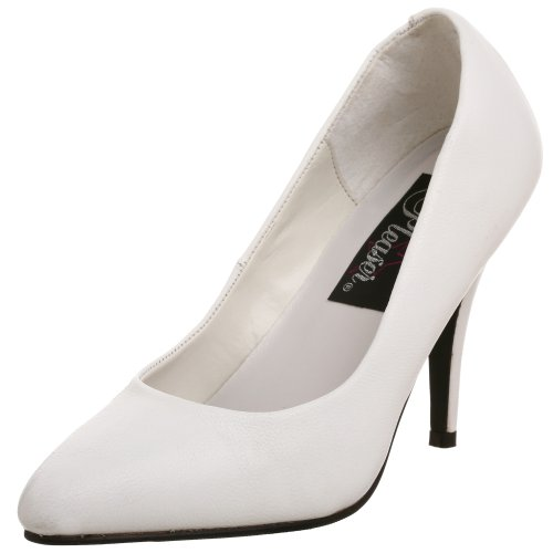 Pleaser VANITY-420, Zapatos Mujer Blanco (Leder Weiß)