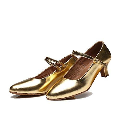 Satin Dance Shoe Professionista Donne Superiore Ballroom altri Salsa Sandali Delle Ragazza Latino Scarpe 40 Colori Della Med gold Y7PxYw