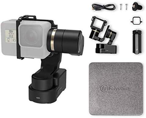 FeiyuTech WG2X stabilisateur à cardan Gimbal portable avec mini trépied convient aux caméras d'action HERO 7 6 5 4 / YI 4K / AEE, pour casque vélo moto montage