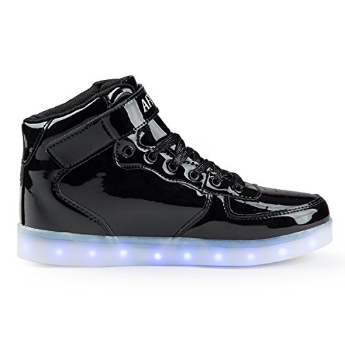 High Fashion Kids Boys Lm Sneakers black Top For Girls AFFINEST Shoes Light LED Up 1RIYRq