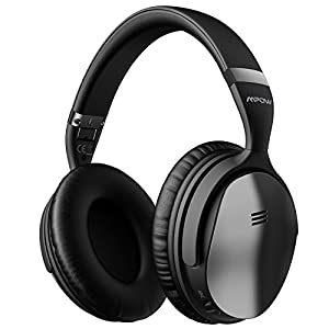Mpow H5 [Upgrade] Active Noise Cancelling Headphones ANC Over Ear Wireless Bluetooth Headphones w/Mic, Electroplating Stylish Look Comfortable Protein Earpads Travel Work Computer Home