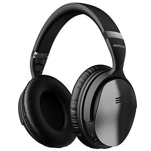 Mpow H5 [2019 Upgrade] Active Noise Cancelling Headphones ANC Over Ear Wireless Bluetooth Headphones w/Mic, Electroplating Stylish Look Comfortable Protein Earpads Travel Work Computer Home (Ear Comfortable Headphones)