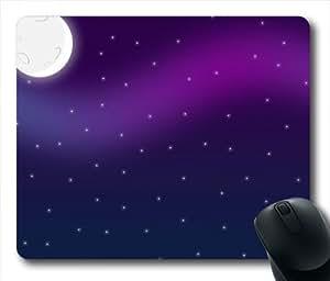 Purple Night Sky Oblong Shaped Mouse Mat