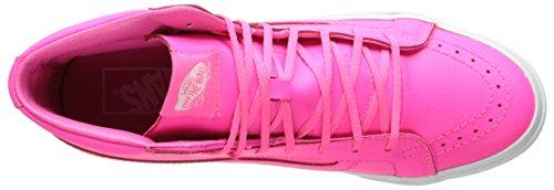Camionnettes Unisexe Perf Sk8-hi Slim Zip Sneaker Blanc Vrai - 7,5 Néon Pink / True White