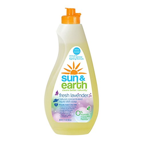 Sun and Earth Natural Concentrated Dishwashing Liquid, Lavender (22oz) (PACK OF 1)
