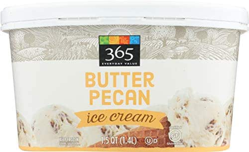 365 Everyday Value, Butter Pecan Ice Cream, 48 oz (Frozen)