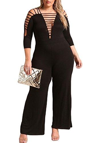 L'Diva Couture Boutique Women's Jumpsuit Plus Size (2X) Diva Jumpsuit
