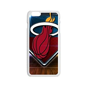 Miami Heat NBA White Phone Case for iPhone 6 Case