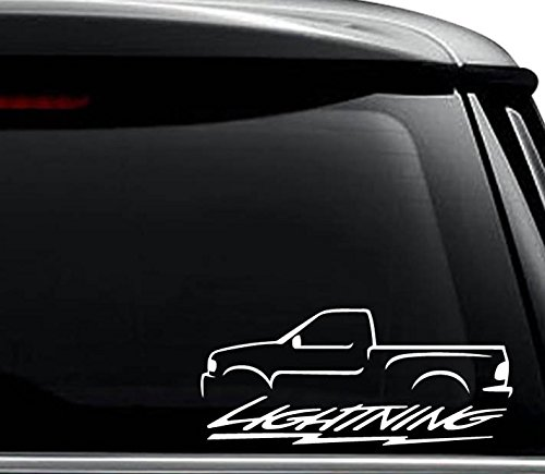 Ford Lightning SVT Decal Sticker For Use On Laptop, Helmet, Car, Truck, Motorcycle, Windows, Bumper, Wall, and Decor Size- [6 inch] / [15 cm] Wide / Color- Gloss White (Lightning Svt Truck)