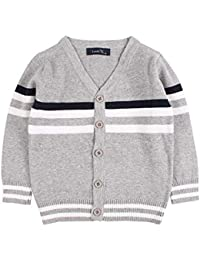 19cc17e7c Baby Button-up Cardigan V-Neck Knit Sweater Boys Toddler Casual Outerwear