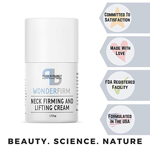 Neck Firming Cream with Natural Anti Aging Oils, Vitamins C & E, Hyaluronic Acid to Reduce Appearance of Wrinkles, Fine Lines & Dark Spots – Neck, Chest & Décolleté Skin Care for Men & Women