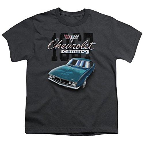Kids Chevy Blue Classic Camaro Youth T-shirt, Charcoal, Medi