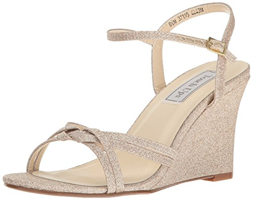 Touch Ups Women's Buffy Wedge Sandal, Champagne, 8 M US