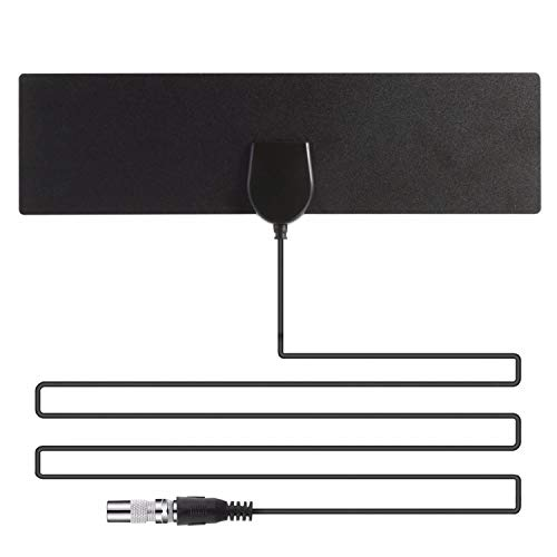 [2019 Latest] HDTV Antenna TV Antenna Indoor-50 Miles Range Support 4K 720P 1080i 1080p/ATSC & Older TVs | Antenna for Digital TV Indoor-Ultra Thin TV Antenna,Free Local HDTV Channels-10FT Coax Cable