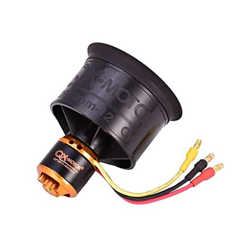 9imod QX-MOTOR QF2611 4000KV 3S 4S CW Brushless Motor with 50mm 12 Blades Ducted Fan EDF Culvert Motor Suit for RC Fixed Wing