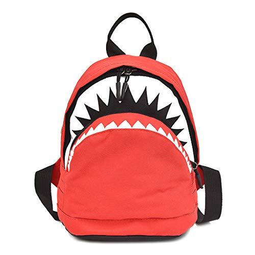 para Bookbag Mochila Animales Red Kids Forma Baby Shark de Escuela Grande para en Xuniu Children Cartoon qAUYHH