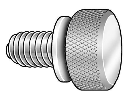 Thumb Screw, Knurl, 10-32x3/8 L, Pk5 by GRAINGER APPROVED
