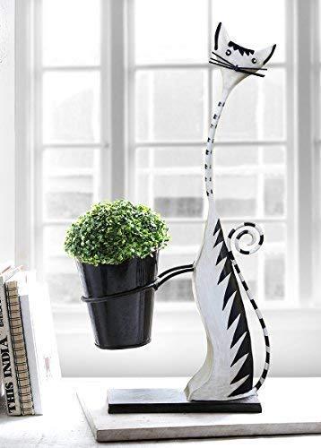 Decorative Metal Home Garden Planter Indoor Outdoor Flower Pot Distinctive Shape Style Unique Planters - Head Lady Planter