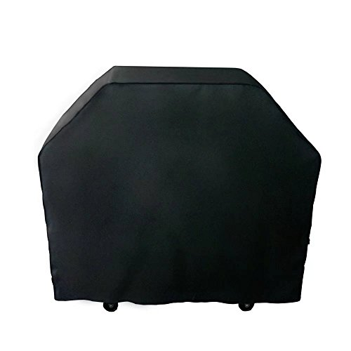 NEXTCOVER Universal Gas Grill Cover, 58 inch 600D Canvas Heavy Duty Waterproof Fade Resistant BBQ Grill Cover for Weber, Char Broil, Holland, Jenn Air, Brinkmann. - Black N21G802