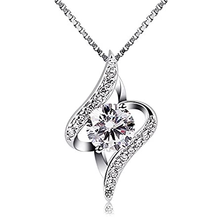 DescriptionBrand Name: B.Catcher; Material: Sterling Silver; Identifier: S925; Weight: 3.5g; Size: 20mm*12mm; Necklace: Box Chain; Stone: Cubic Zirconia. About B.Catcher Jewelry B.Catcher Jewelry is the beauty catcher who creates fine and fashion jew...