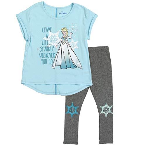 Disney Frozen Little Girls' Elsa Top and Leggings Set (6X) Blue -