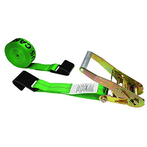 Green Ratchet Strap Black Flat