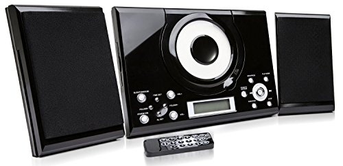 GTMC-101 CD Player with Stereo Speakers / Radio and Clock Alarm / Desktop...