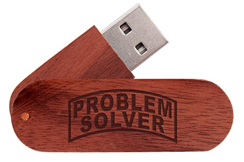 16 Gigabyte USB Flash Drive Mahogany NDZ Banner Problem (Problem Solver Wood)