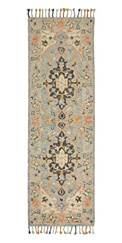 Stone & Beam Garrison Vintage Pattern Wool Runner, 2'6'' x 8', Grey Multi by Stone & Beam