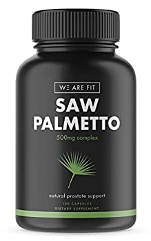 Saw Palmetto Capsules For Prostate Health - Extract & Berry Powder Complex To Reduce Frequent Urination and DHT Blocker To Fight Hair Loss - 500mg Natural Supplement