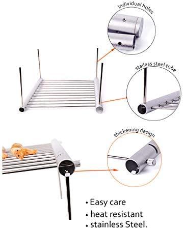 LHY DECORATION Barbecue Portable Pliant, Accessoires de Barbecue Charbon de Poche de Gril de Barbecue de Gril d'acier Inoxydable pour l'usage de Parc à la Maison