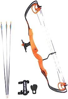 ROLAN CAMBIUM - Kit arc à poulies pour le loisir 9.5 à 11 Kg - Homme - Femmes - Enfant - DROITIER - Orange.