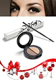 HIGHEST RATED EYEBROW MAKEUP KIT for Beautiful Women with Dual Brush and Universal Brow Color & Wax Kit for All Eyebrows, Create Naturally Gorgeous Brows in Minutes! Includes Black Silk Gift Bag