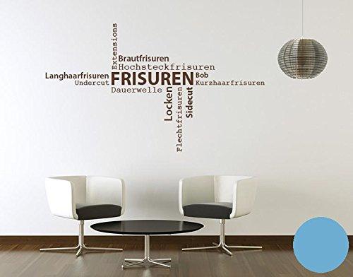 Klebefieber Wandtattoo Frisuren B x H  130cm x 76cm Farbe  Dunkelgrau B0711DB7XH Wandtattoos & Wandbilder
