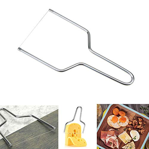 Kalolary Cheese Slicer, Stainless Steel Cheese Knives Slicers with Wire - Kitchen Tools Handheld Butter Cutter Tools for Soft Hard Block Cheese