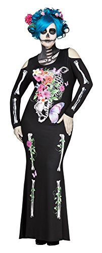 Fun-World-Womens-Plus-Size-Beautiful-Bones-Costume