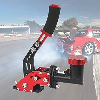 BLACK Hydraulic Handbrake Universal Ebrake Long lever Handle Fit for Drift Track Rally Racing E-Brake Vertical Position Adjustable Pin Locations 3//4 master cylinder Ergonomic handle /& anti-slip