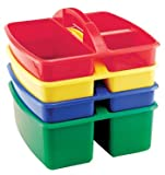 ECR4Kids Small Art Caddy, Assorted Colors, Plastic, 4/Pack (ELR0467)
