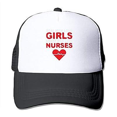 Boys and Girls Classic Real MEM Love Girls Smart Men Love Nurse Baseball Cap