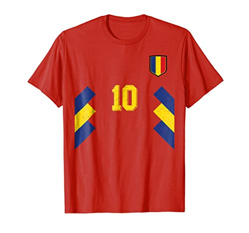 - Retro Romania Soccer Jersey Away Romanian Football T-Shirt